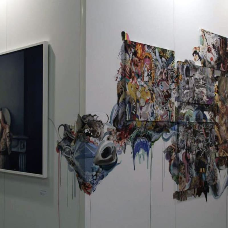 Uldus Bakhtiozina, Marya Dmitrieva. Anna Nova's booth at Contemporary Istanbul 2013