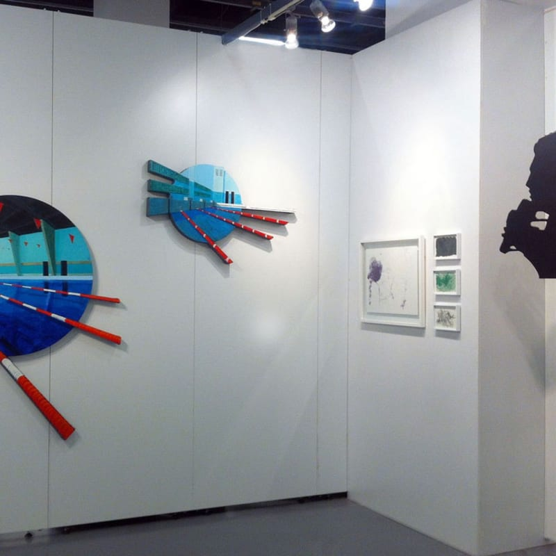 A. Dashevkiy, V. Kulkov, I. PluschAnna Nova's booth at Contemporary Istanbul 2013