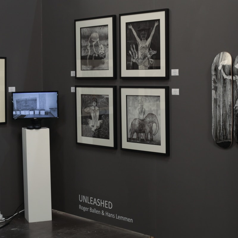BOOTH S04 Two artist show: 'Unleashed' by Roger Ballen and Hans Lemmen