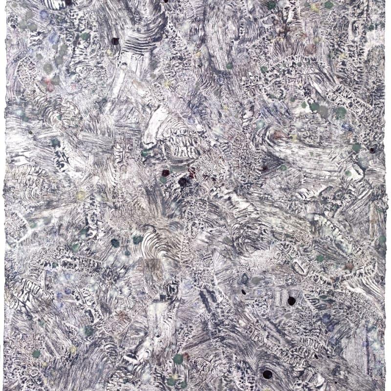 Bernhard Zimmer Palimpseste, 2014 136 x 98 cm Mischtechnik auf handgeschöpftem Papier