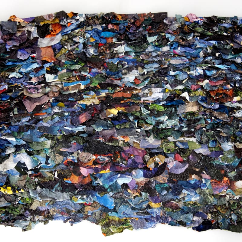 Suné Woods From Here We Go Nowhere , 2015 Mixed media collage 58 x 74 inches unique