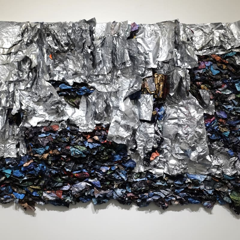 Suné Woods Traveling Like The Light (2), 2015 Mixed media collage 59 x 57 inches unique