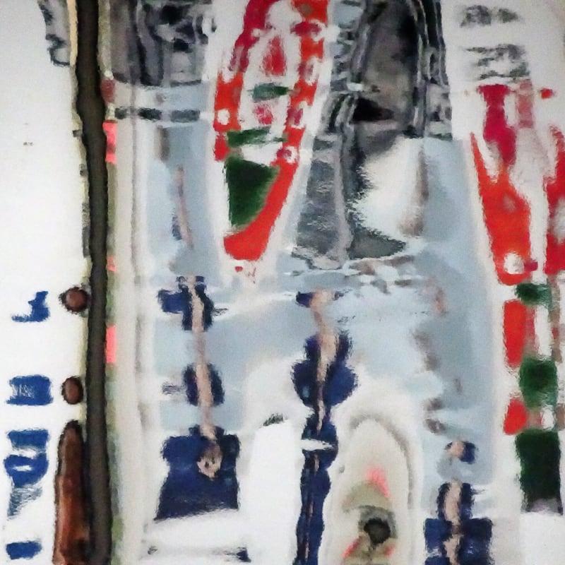 Kitty Chou, White, Red, Blue & Green #1, 2016