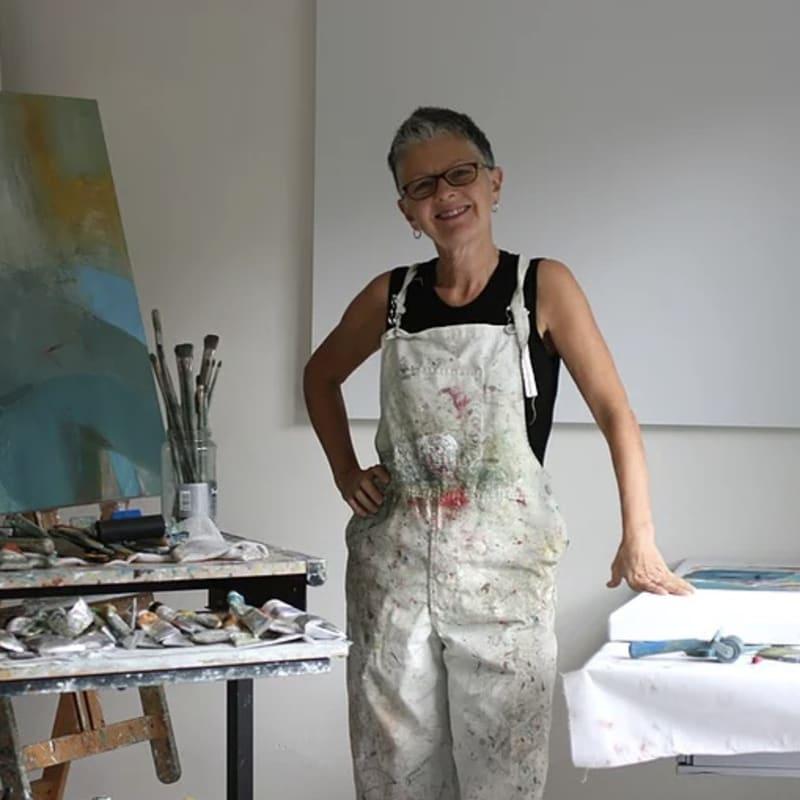 Val in her studio