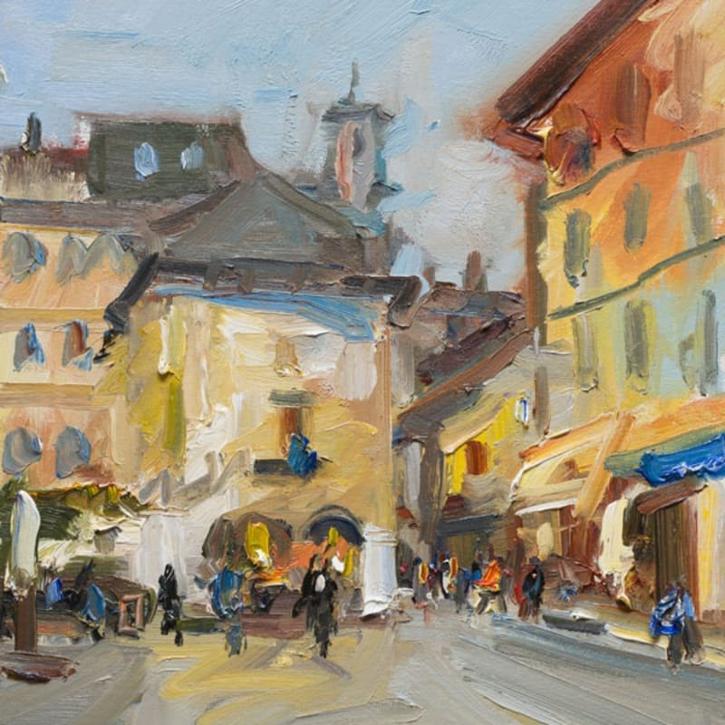 Early Morning in the Piazza, Orta San Giulio