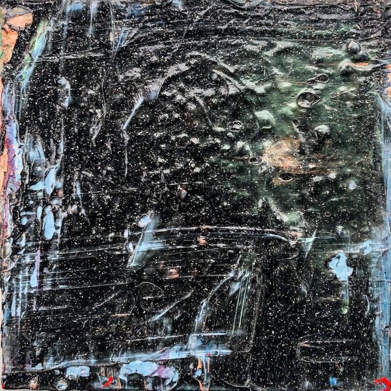 Black Snow © Francine Tint acrylic on canvas 12 x 12 inches