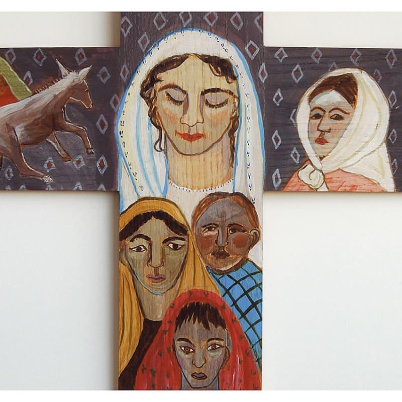 Afghan Family Cross © Deborah Masters 2006 24 X 24 Inches
