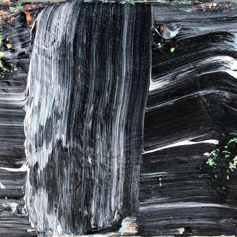 "Black Luxury © Francine Tint acrylic on canvas 9"" x 12"" inches"