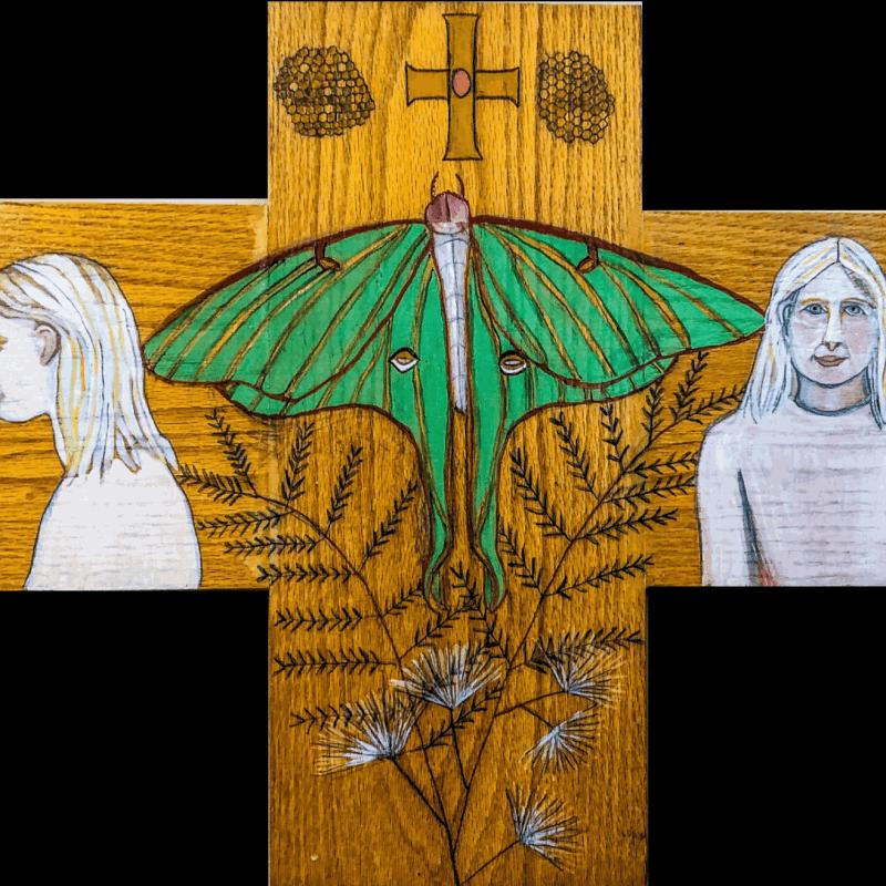 Luna Moth Cross © Deborah Masters 2018