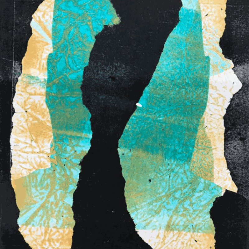 Silhouette Print No 2 © Eric Sanders Monotype Print 10 X 8 Inches