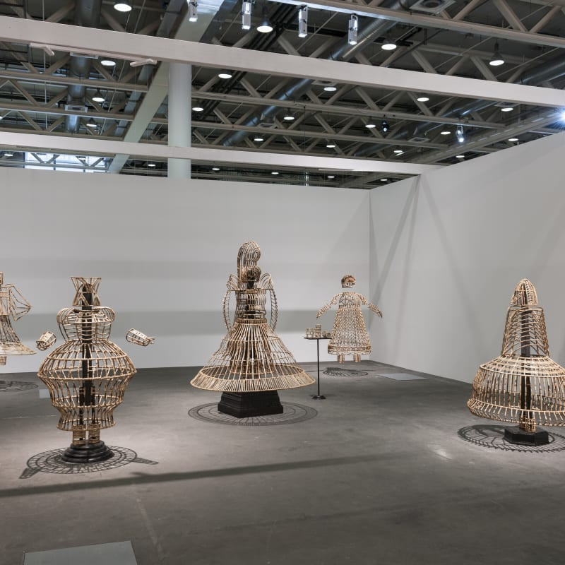 Installation View, SHAKUNTALA KULKARNI Of bodies armour and cages
