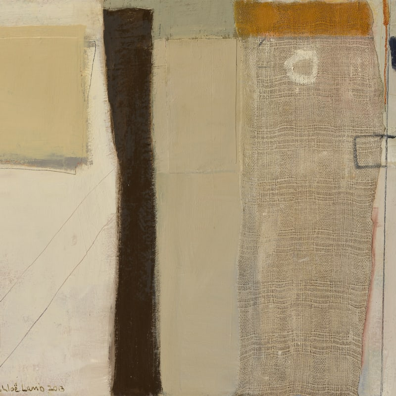 """12b, Amble Sands III, oil and collage, 30"""" x 40"""""""