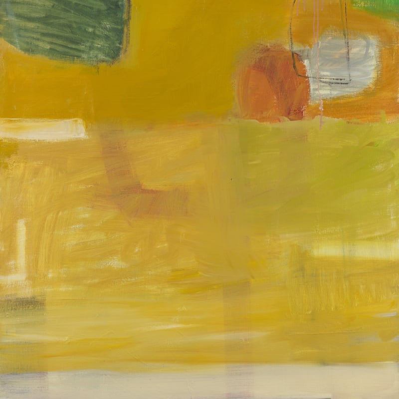 "5. Yellow and Pink 201, Oil on canvas, 48"" x 36"""