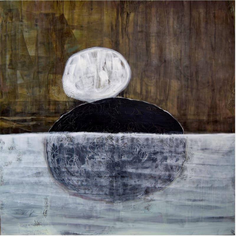 Nissa Raad The selfless, Mixed media on canvas, 2019, 160x160cm