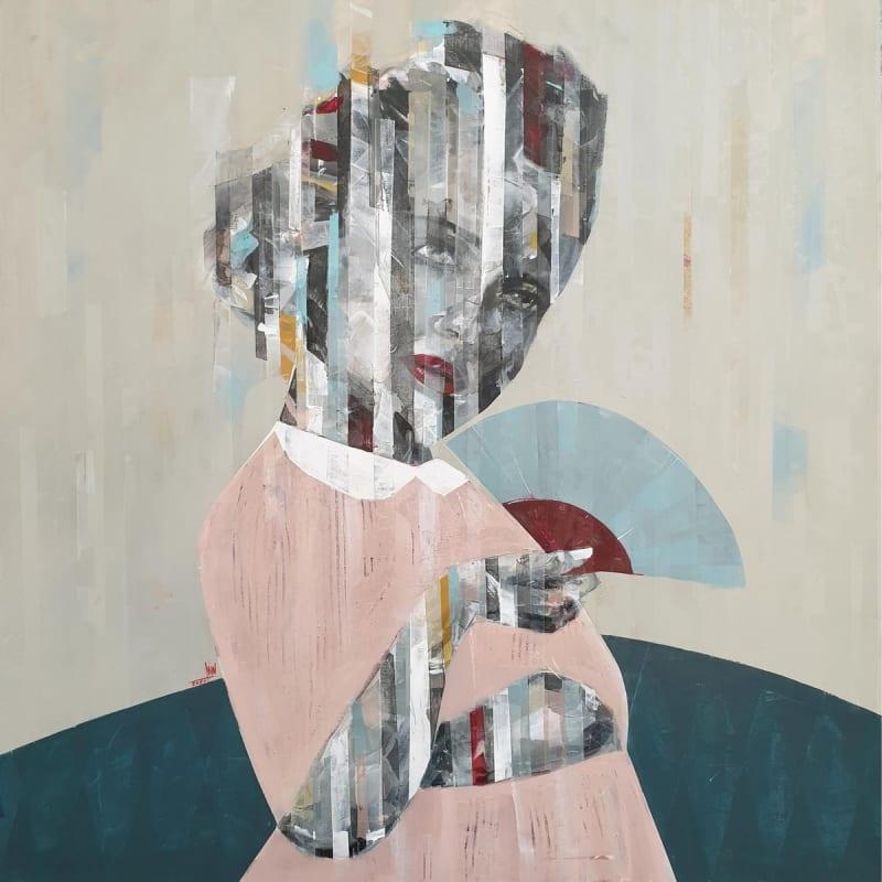 Besher Koushaji, Untitled, 2020, Acrylicon canvas, 120x120cm