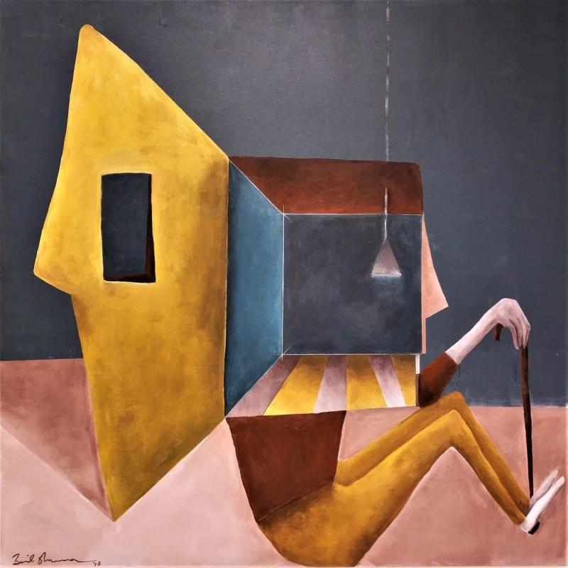 Zaid Shawwa, Remembrance, 2018, Acrylic on canvas, 110x110cm