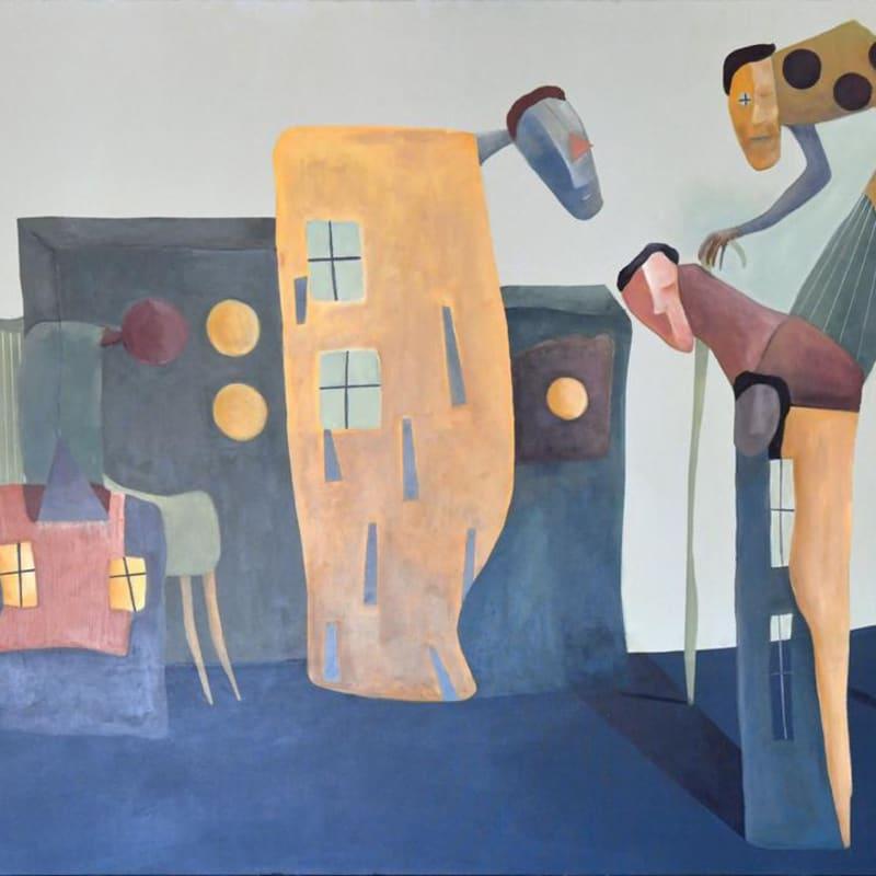 Zaid Shawwa, The return, 2018, Acrylic on canvas, 130x180cm