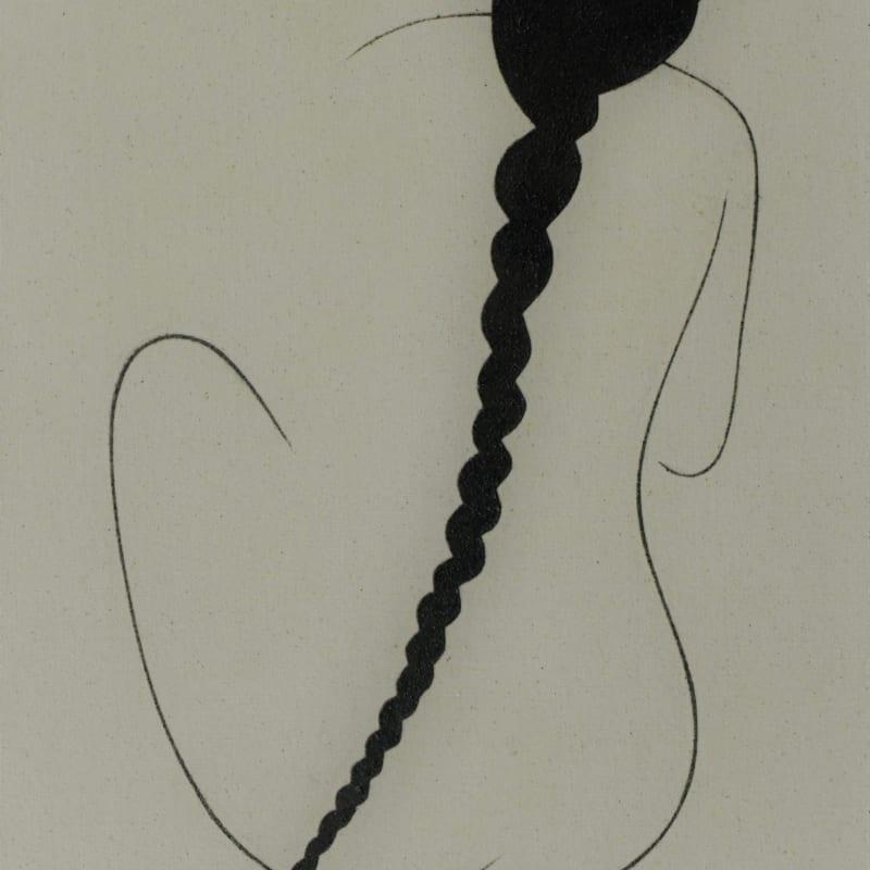 Saoud Abdallah, Untited, 2020, Mixed media on canvas, 86.5x50.5cm