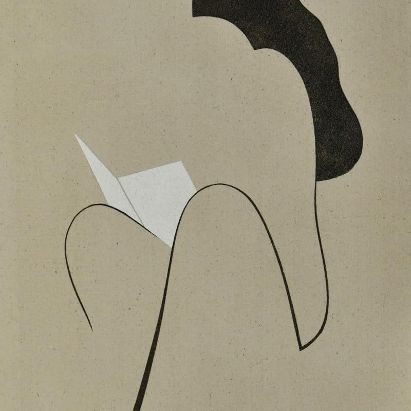 Saoud Abdallah, Untited, 2020, Mixed media on canvas, 90x60cm
