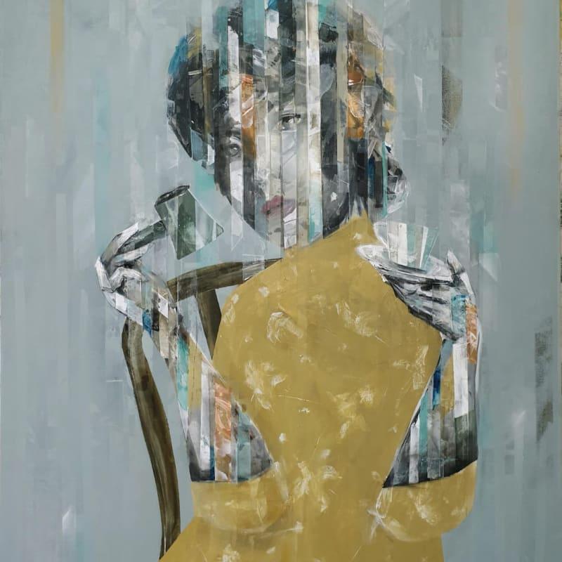 Besher Koushaji, Untitled, 2020, Acrylicon canvas, 120x100cm