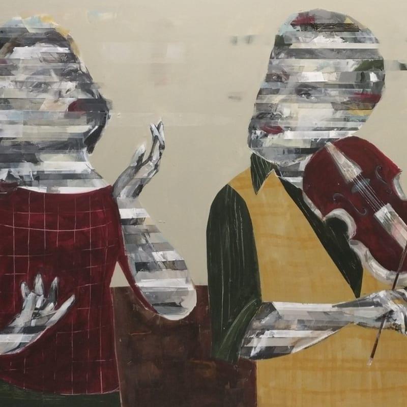 Besher Koushaji, Untitled, 2020, Acrylicon canvas, 90x150cm