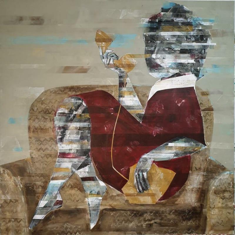 Besher Koushaji, Untitled, 2021, Acrylicon canvas, 120x120cm