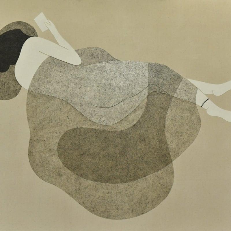 Saoud Abdallah, Untited, 2020, Mixed media on canvas, 150x180cm