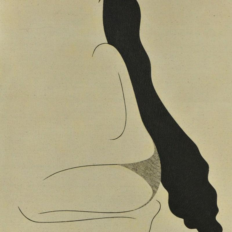 Saoud Abdallah, Untited, 2020, Mixed media on canvas, 110x90cm