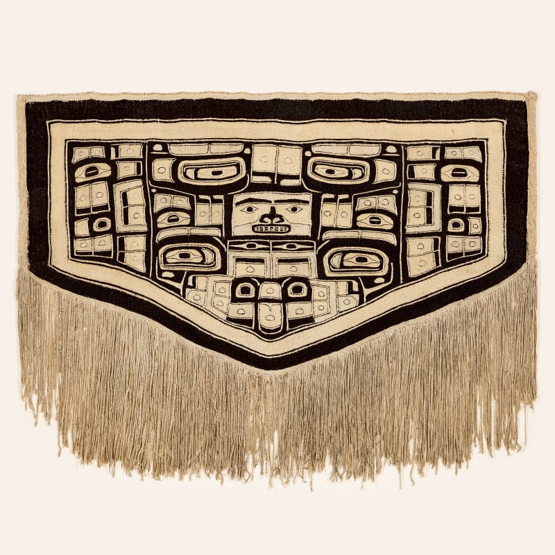 UNIDENTIFIED ARTIST, TLINGIT, CHILKAT KWAAN  Chilkat Robe (Naaxein), c. 1880  REALIZED: $26,400