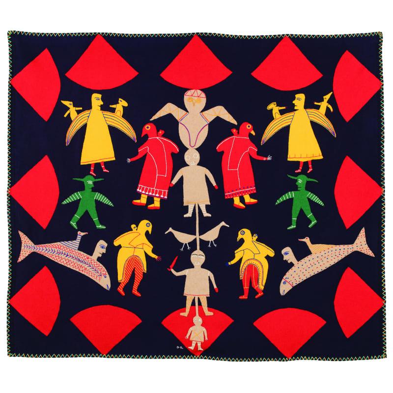 JESSIE OONARK, O.C., R.C.A (1906-1985) QAMANI'TUAQ (BAKER LAKE)  Untitled (Spirit Figures), c. 1970  REALIZED: $102,000