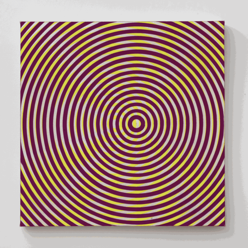 Taro Suzuki. Helio Trope, 2017. Acrylic on Canvas on Panel. 30 x 30 in.