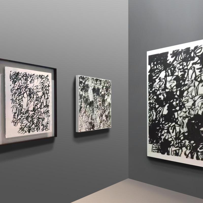 Wang Dongling's artworks , 2016, Hong Kong Convention and Exhibition Centre 王冬龄作品,2016年,香港会议展览中心
