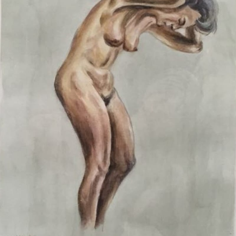 These are still nude paintings - copies of life drawings by Adolf Hitler No.2 2015 Watercolor and drawing 27.5 x...