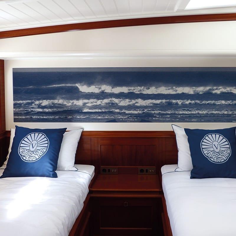 Sonja Weber's commission for bespoke Hermès designed yacht.