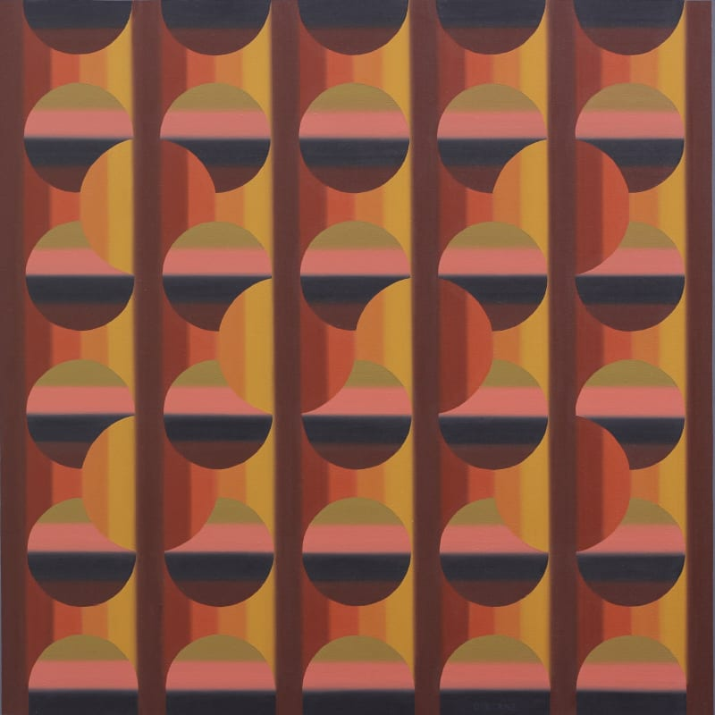 Roy Osborne's painting 'Chromotopia 23' in the Summer Exhibition at the RA.