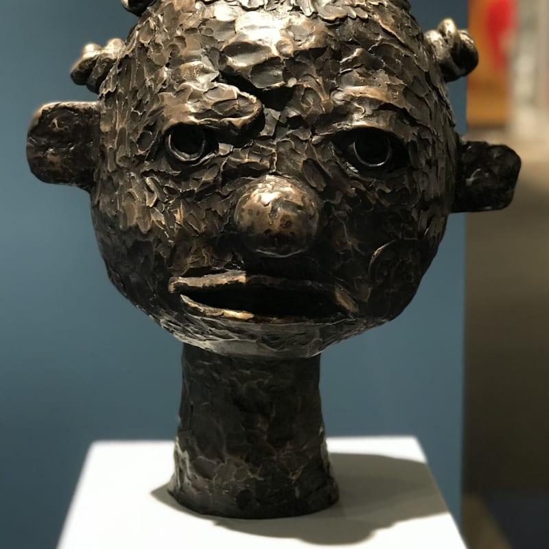 Clotilde Jiménez, Black Girl Head, 2018 Installation view