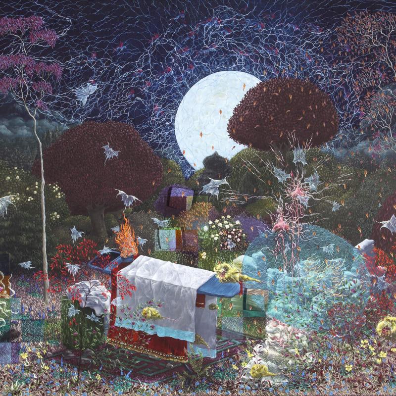 Michael Beirne  Sahasrara  Oil on gesso panel  36 x 54 cm
