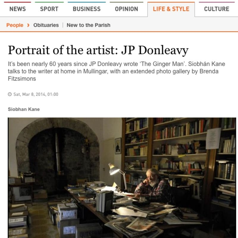 Portrait of the artist: JP Donleavy