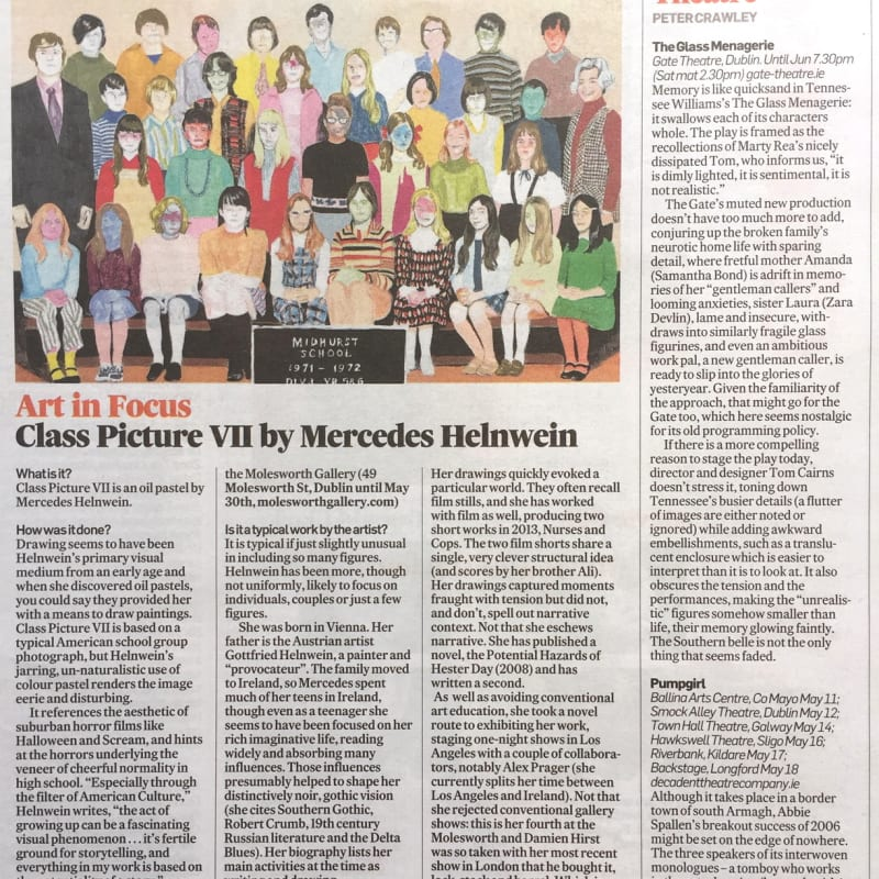 Art in Focus: Mercedes Helnwein in The Irish Times