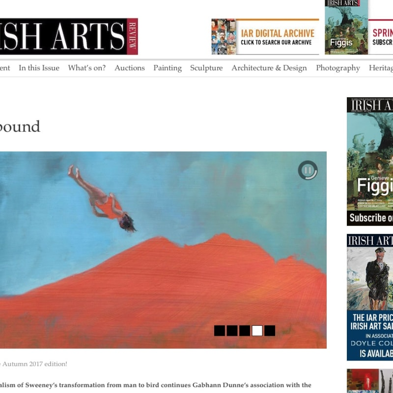 Gabhann Dunne in The Irish Arts Review