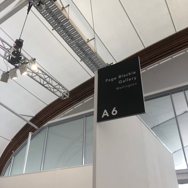 Page Blackie Gallery, Auckland Art Fair 2018, The Cloud, Auckland. Photo: Ryan McCauley.
