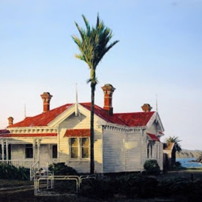 Old Villa and Nikau, near Seatoun, Wellington Oil on board 580 x 680mm