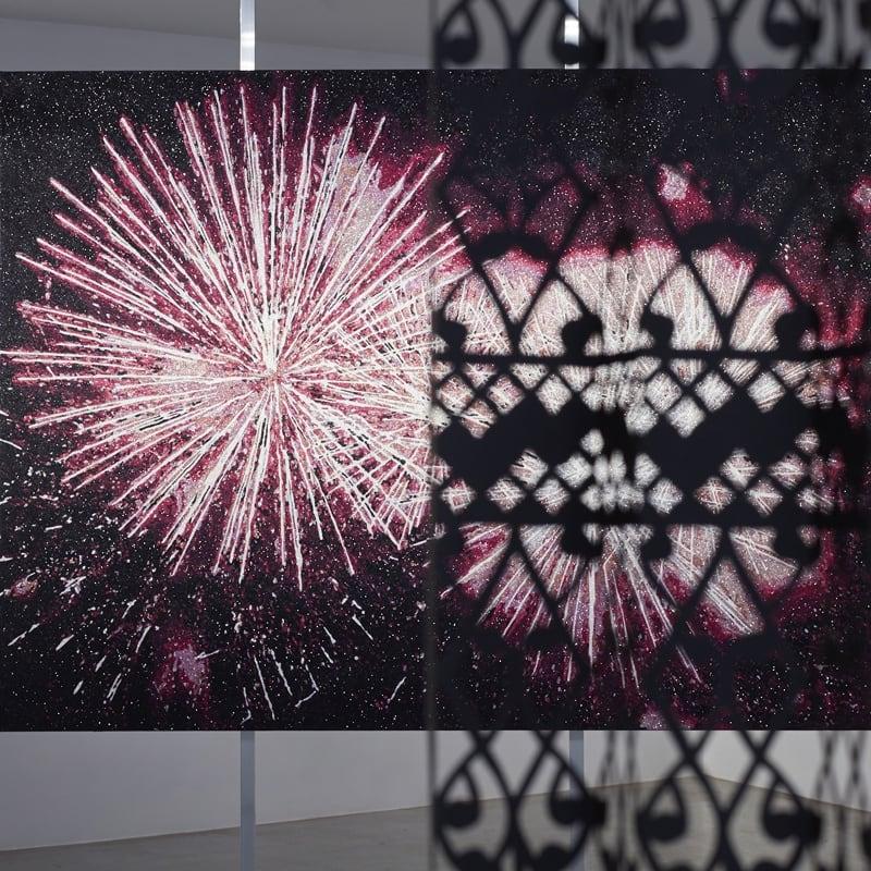 Image courtesy Te Uru Waitakare Contemporary Gallery. Installation image from Reuben Paterson and Lonnie Hutchinson: Relative Reciprocity, Te Uru Waitakare, 2017. Photo: Sam Hartnett