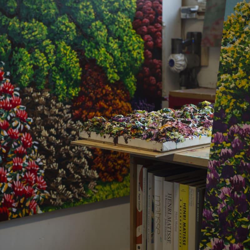 Karl Maughan's Wellington studio, May 2018. Photo: Ryan McCauley.
