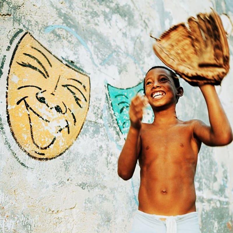 Havana, Cuba, 2000. #baseball #happy #portraitphotography #portrait #photography #film #filmsnotdead #agfa #crossprocess