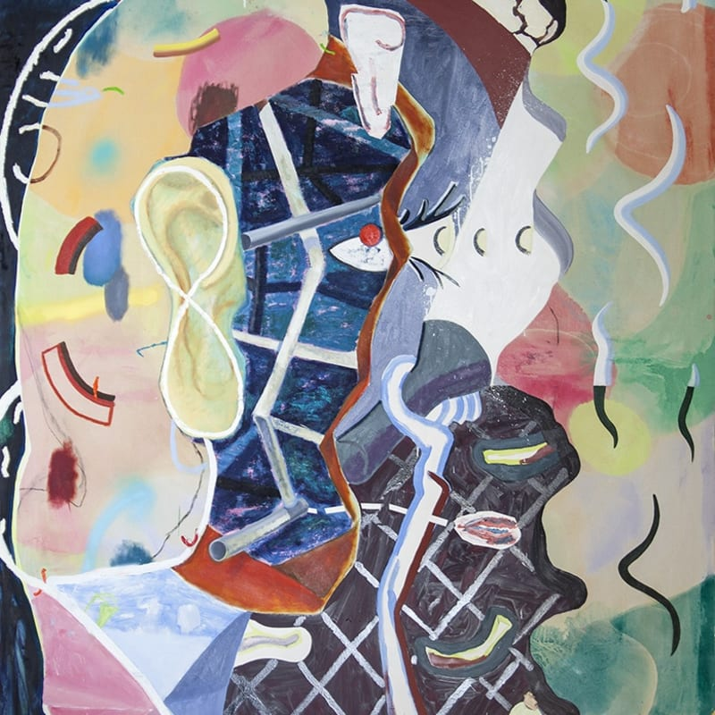 """Figure Studying Cave Painting 2016 
