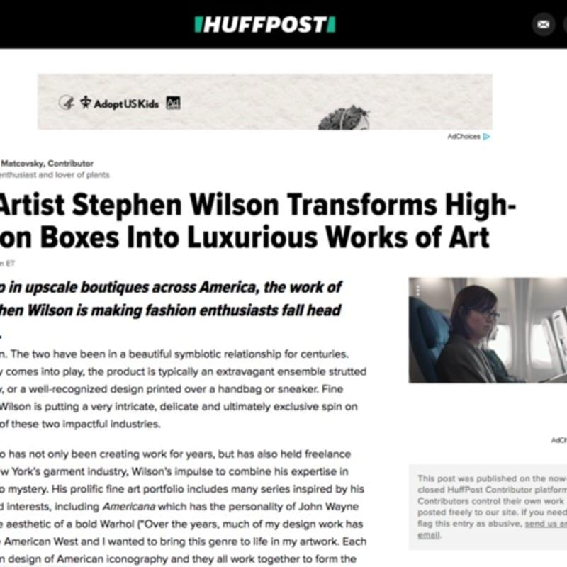 Fine Artist Stephen Wilson Transforms High-Fashion Boxes Into Luxurious Works of Art