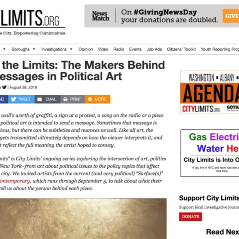 Art at the Limits: The Makers Behind the Messages in Political Art