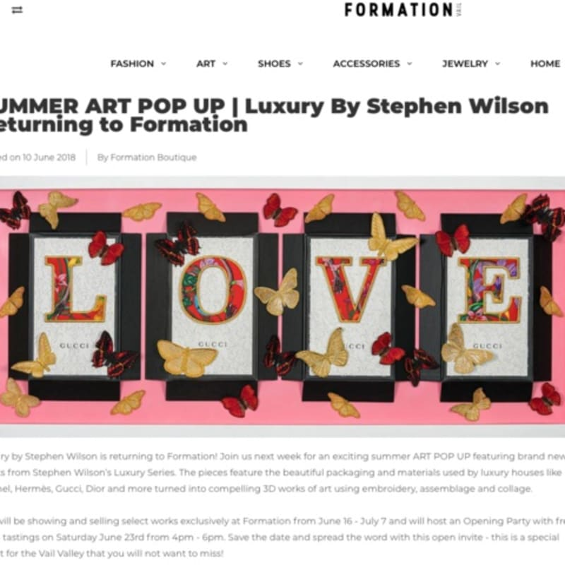 SUMMER ART POP UP | Luxury By Stephen Wilson Returning to Formation