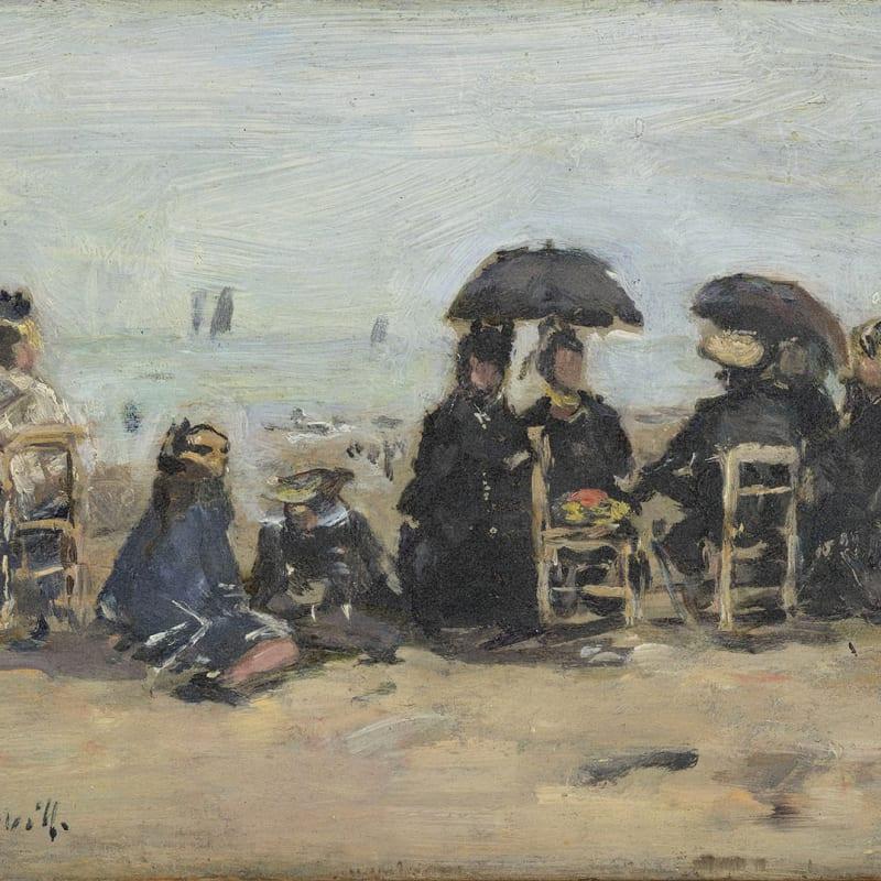 Trouville, scène de plage